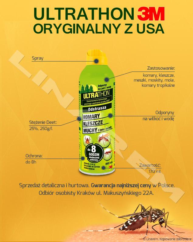 409bc4cecead Preparat na komary dla myśliwych Ultrathon Spray DEET 25%. - Sklep ...